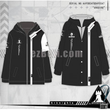 New! Game Arknights Lappland Black Casual Cosplay Zipped Hoodie Jacket Winter