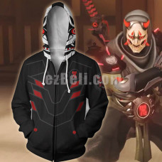 New! Game Overwatch Genji Skin Theme Zipper Hoodie Jacket