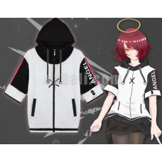 New! Game Arknights Amiya Short Long Sleeves Casual Cosplay Hoodie Zipped Jacket
