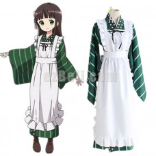 New! Anime Is The Order a Rabbit Chiya Ujimatsu Cafe Waitress Kimono Cosplay Costume