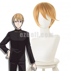 New! Anime Kaguya-sama: Love Is War Miyuki Shirogane Yellow Short Cosplay Wig