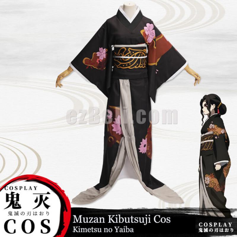New! Anime Demon Slayer Kimetsu no Yaiba Kibutsuji Muzan Female Kimono Cosplay Costume