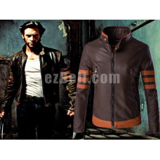 New! Logan Leather Long Sleeves Biker Jacket