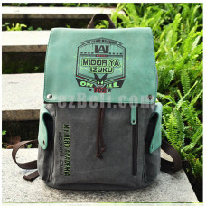 New! Anime My Hero Academia Midoriya Izuku Green Backpack Shoulder Canvas Student School Bag