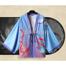 New! Movie Anime Nezha Ne Zha Light Blue Red Chiffon Pajamas Cloaks Casual Cosplay Yukata Kimono Coat