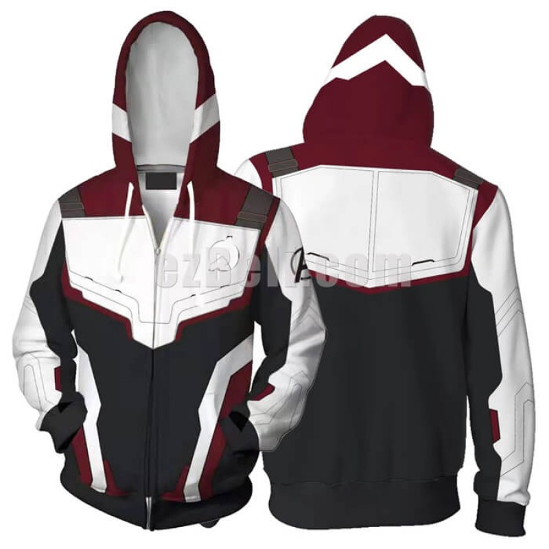 New! Movie Avengers 4 Endgame Unisex Zip Up Hoodie Casual Cosplay Sweatshirt Jacket