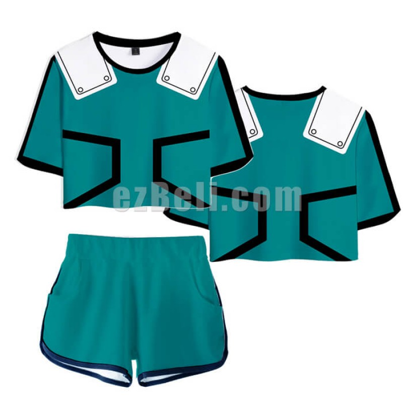 New! My Hero Academia Boku no Hero Academia Casual Cosplay Fancy Shirt and Shorts