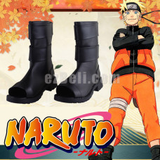 New! Naruto Black Cosplay Boots