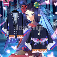 New! Onmyoji Yin Yang Master Butterfly Theme Casual Yukata Clothing