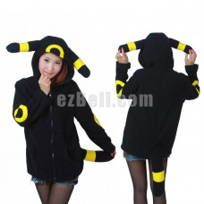 New! Pokemon Umbreon Hoodie Jacket
