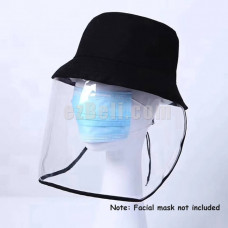 New! Fisherman Hat with Protective Transparent Mask to Protect Whole Face from Saliva Virus Bacteria Sun UV Rays
