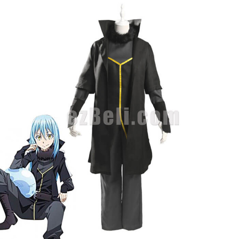 New! Anime Rimuru Tempest Black Suit That Time I Got Reincarnated As A Slime Cosplay Costume