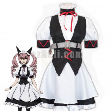 New! Game Steins;Gate Makise Kurisu Feiris Nyannyan Maid Dress Cosplay Costume Uniform