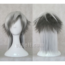 Gray mix white Cosplay Wig